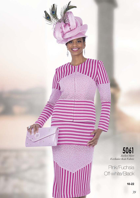 ELITE #5061__ 2 PC KNIT SUIT  COLOR: PINK/FUCHSIA,  OFFWHITE/BLACK  SIZE: 10-22  FOR MORE IMFORMATION AND PRICE PLEASE GIVE US A CALL   WE BEAT  ALL PRICES !!!!  VIA MIMI FASHION  1333 S. SANTEE ST.  LA,CA.90015  TEL: (213)748-MIMI (6464)  FAX: (213)749-MIMI (6464)  E-Mail: mimi@viamimifashion.com  http://viamimifashion.com  https://www.facebook.com/viamimifashion    https://www.instagram.com/viamimifashion  https://twitter.com/viamimifashion