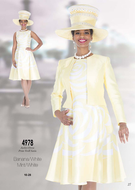 ELITE #4978_ 2 PC  DRESS WITH JACKET  COLOR: BANANA/WHITE , MINT/WHITE  SIZE: 10-28  FOR MORE IMFORMATION AND PRICE PLEASE GIVE US A CALL   WE BEAT  ALL PRICES !!!!  VIA MIMI FASHION  1333 S. SANTEE ST.  LA,CA.90015  TEL: (213)748-MIMI (6464)  FAX: (213)749-MIMI (6464)  E-Mail: mimi@viamimifashion.com  http://viamimifashion.com  https://www.facebook.com/viamimifashion    https://www.instagram.com/viamimifashion  https://twitter.com/viamimifashion