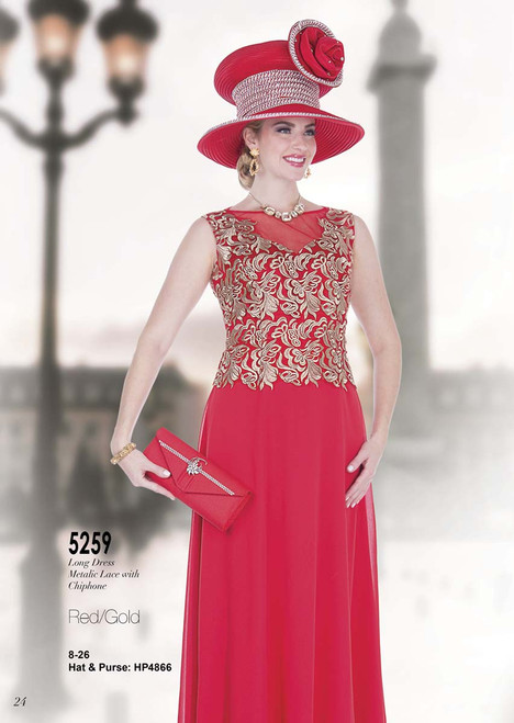 ELITE #5259_ ONE PC LONG DRESS  COLOR: RED/GOLD  SIZE: 8-26  HAT & PURSE : HP4866  FOR MORE IMFORMATION AND PRICE PLEASE GIVE US A CALL   WE BEAT  ALL PRICES !!!!  VIA MIMI FASHION  1333 S. SANTEE ST.  LA,CA.90015  TEL: (213)748-MIMI (6464)  FAX: (213)749-MIMI (6464)  E-Mail: mimi@viamimifashion.com  http://viamimifashion.com  https://www.facebook.com/viamimifashion    https://www.instagram.com/viamimifashion  https://twitter.com/viamimifashion