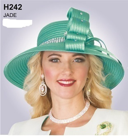 LILY TAYLOR HAT #H242 JADE ONLY !!!  FOR MORE IMFORMATION AND PRICE PLEASE GIVE US A CALL   WE BEAT  ALL PRICES !!!!  VIA MIMI FASHION  1333 S. SANTEE ST.  LA,CA.90015  TEL: (213)748-MIMI (6464)  FAX: (213)749-MIMI (6464)  E-Mail: mimi@viamimifashion.com  http://viamimifashion.com  https://www.facebook.com/viamimifashion    https://www.instagram.com/viamimifashion  https://twitter.com/viamimifashion