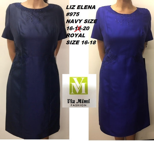 LIZ ELENA #975 NAVY SIZE 16,20 ROYAL BLUE SIZE 16,18 ONLY SPECIAL PRICE $189.00 !!!