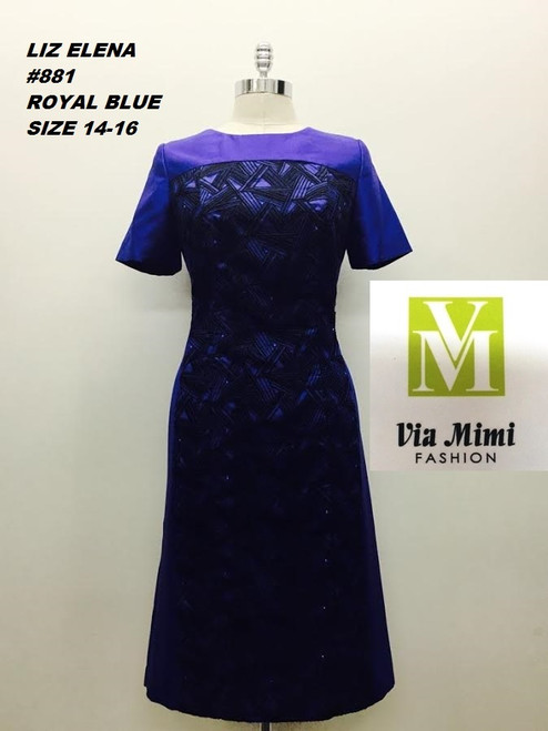 LIZ ELENA #881 ROYAL 14,16  ONLY !!!  FOR MORE IMFORMATION AND PRICE PLEASE GIVE US A CALL   WE BEAT  ALL PRICES !!!!  VIA MIMI FASHION  1333 S. SANTEE ST.  LA,CA.90015  TEL: (213)748-MIMI (6464)  FAX: (213)749-MIMI (6464)  E-Mail: mimi@viamimifashion.com  http://viamimifashion.com  https://www.facebook.com/viamimifashion    https://www.instagram.com/viamimifashion  https://twitter.com/viamimifashion