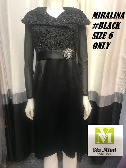 MIRALINA BLACK  SIZE 6  ONLY !!!  FOR MORE IMFORMATION AND PRICE PLEASE GIVE US A CALL   WE BEAT  ALL PRICES !!!!  VIA MIMI FASHION  1333 S. SANTEE ST.  LA,CA.90015  TEL: (213)748-MIMI (6464)  FAX: (213)749-MIMI (6464)  E-Mail: mimi@viamimifashion.com  http://viamimifashion.com  https://www.facebook.com/viamimifashion    https://www.instagram.com/viamimifashion  https://twitter.com/viamimifashion