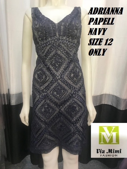 ADRIANNA PAPEL NAVY SIZE 12  ONLY !!!  FOR MORE IMFORMATION AND PRICE PLEASE GIVE US A CALL   WE BEAT  ALL PRICES !!!!  VIA MIMI FASHION  1333 S. SANTEE ST.  LA,CA.90015  TEL: (213)748-MIMI (6464)  FAX: (213)749-MIMI (6464)  E-Mail: mimi@viamimifashion.com  http://viamimifashion.com  https://www.facebook.com/viamimifashion    https://www.instagram.com/viamimifashion  https://twitter.com/viamimifashion