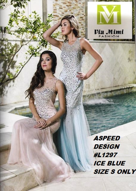 ASPEED DESIGN STYLE #L1297  ICE BLUE SIZE -S-  SPECIAL PRICE $139.00!!!  FOR PRICE AND MORE IMFORMATION  PLEASE GIVE US A CALL   WE BEAT  ALL PRICES !!!!  VIA MIMI FASHION  1333 S. SANTEE ST.  LA,CA.90015  TEL: (213)748-MIMI (6464)  FAX: (213)749-MIMI (6464)  E-Mail: mimi@viamimifashion.com  http://viamimifashion.com  https://www.facebook.com/viamimifashion    https://www.instagram.com/viamimifashion  https://twitter.com/viamimifashion