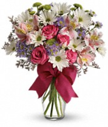 A pretty collection of flowers for your sweetheart.