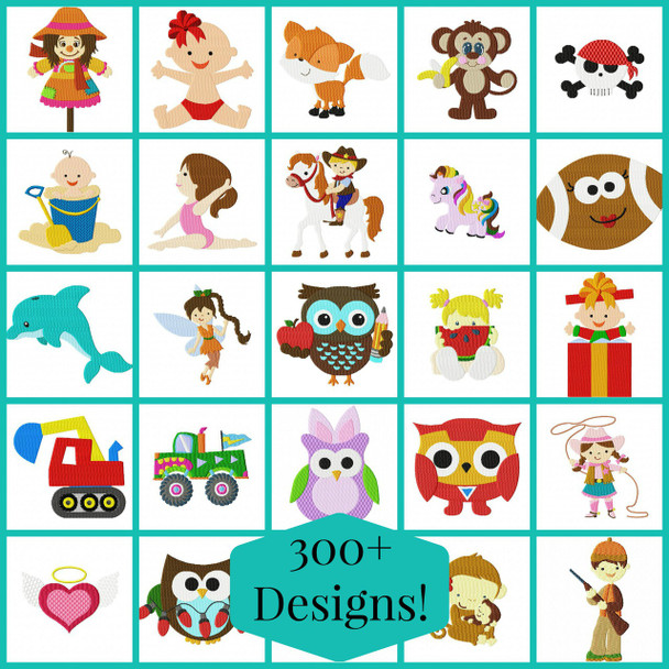 CLEARANCE Single filled designs  4X4 and 5X7 300+ designs!