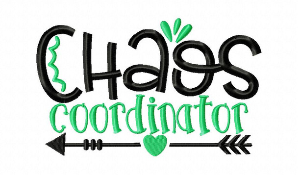 Chaos Coordinator Mom Machine Embroidery Design 4X4, 5X7 & 6X10