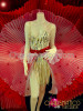 Cabaret Red and White Triple Layer Sheer Circular Pleated Skirt