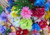 CHARISMATICO Asymmetrical fancy flower and cage wedding headdress with rhinestone accents
