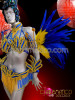 CHARISMATICO Cobalt blue and Golden Brazilian Rio Carnival samba-style costume set
