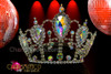 CHARISMATICO Delicate rhinestone drag queen pageant crown with jumbo iridescent crystals