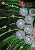 CHARISMATICO Classic fancy green showgirl diva's cabaret headdress and matching collar