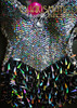 CHARISMATICO Black and silver sequin dance dress with teardrop sequin fringe skirt