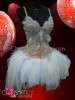 "CHARISMATICO Angelic ""Snow Queen"" Ballet inspired white dress with crystal and feathers"