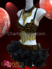 CHARISMATICO amber accented black Go-Go bra with matching beaded organza tutu