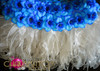 CHARISMATICO blue floral halter Bra and matching organza flame ruffled skirt