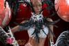 CHARISMATICO Crystal Studded Black Feather Silver Brazilian Rio Carnival Costume Set