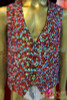 CHARISMATICO Classic Iridescent Crystal And Ruby Covered Men's Cabaret Dance Vest