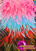 CHARISMATICO Diva Drag Queen Gay Pride Neon Rainbow Feathered Pageant Gown