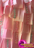 CHARISMATICO Pink Silver Accented Ribbon Fringe Dress With Asymmetrical Sequin Top