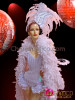 CHARISMATICO Classy Iridescent White Sequin Marabou Feather Ice Queen Costume Set