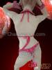 CHARISMATICO Bright Pink Samba Bra and Thong with Matching Cuffs and Collar