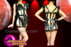 CHARISMATICO 3D CORSET Madonna Dancer's cage costume made of black leather