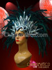 Black Feather Carnival Rio Gay Pride Head piece Headdress