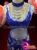 CHARISMATICO Dazzling charming elegant royal blue sequin dress