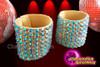 CHARISMATICO pair of Nude diva crystallised show girl reflective latin dance bracelet