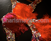 Fuchsia and orange Latin Heat KRUPA SALSA WOW Fringe dancing Star pants