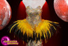 CHARISMATICO  drag queen dress with a touch of feathers and silver sequin