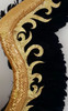 CHARISMATICO  Rich hues of black and gold feather wing for show time Divas