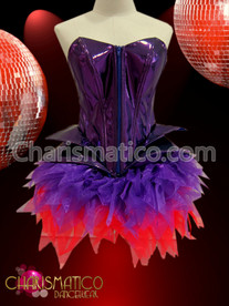 Purple Lady Gaga Corset and purple and red organza tutu