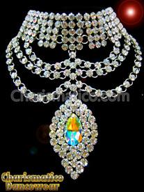 Drag QUEEN Tear Drop Elegant Swarovski Necklace