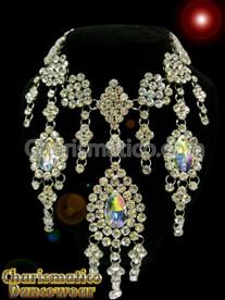 Large Tear Drop Crystal Show Girl Swarovski Necklace