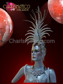 CHARISMATICO Smaller crystal covered cabaret showgirl's or Drag Queen's headdress