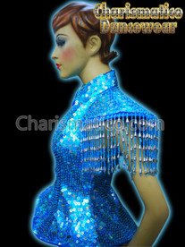 BLUE Sequin Showgirl DIVA JACKET