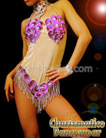 PINK Samba Carnival Sexy Sequin Bodysuit