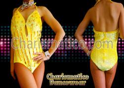 Yellow Sequin ShowGirl Burlesque Leotard