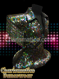 Black LADY GAGA Sequin DRAG QUEEN DIVA JACKET