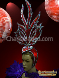 RED STUNNING FANCY HEADDRESS HEAD GEAR