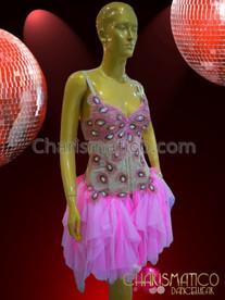 CHARISMATICO Diva's Pink Appealing Elegant Charismatic Stunning Dance Dress