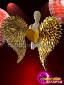 CHARISMATICO Glamorous bird wing style diva drag queen gold wing costume prop