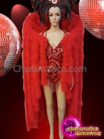 CHARISMATICO Glamorous drag queen's fancy leotard sequin long dance dress