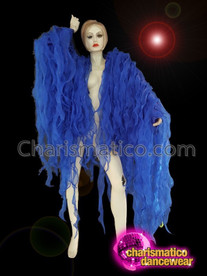 CHARISMATICO Sexy vibrant show girl Blue Ruffle Jacket