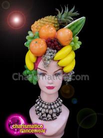 CHARISMATICO Tropical diva shoe girl fruit sequinned headdress