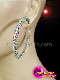 CHARISMATICO Crystallized Latin hoop diva show girl earrings