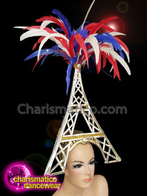 CHARISMATICO Diva show time Eiffel 4th of July show girl headdress